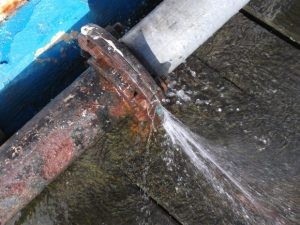 sewage-pipe-burst-outside-water-damage-leak