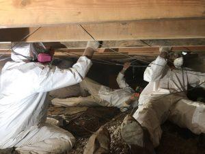 Technicians Repairing A Roof After A Storm