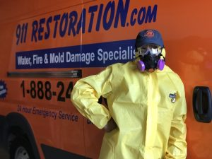 A Technician After A Successful Water Damage Job