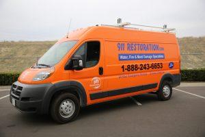 Commercial Damage Restoration Van